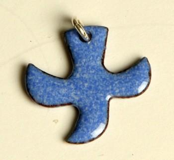 Kreuz/Taube hellblau (klein)