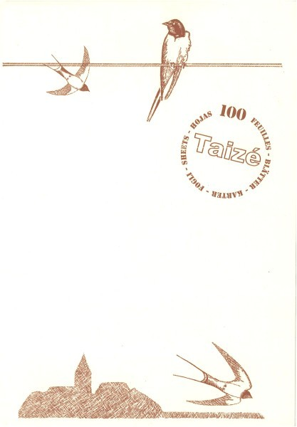 Briefpapier Schwalben / Hirondelle