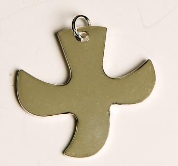 Kreuz/Taube silber (klein)