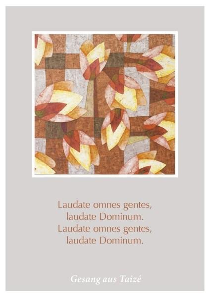 """Postkarte """"Laudate omnes gentes"""""""