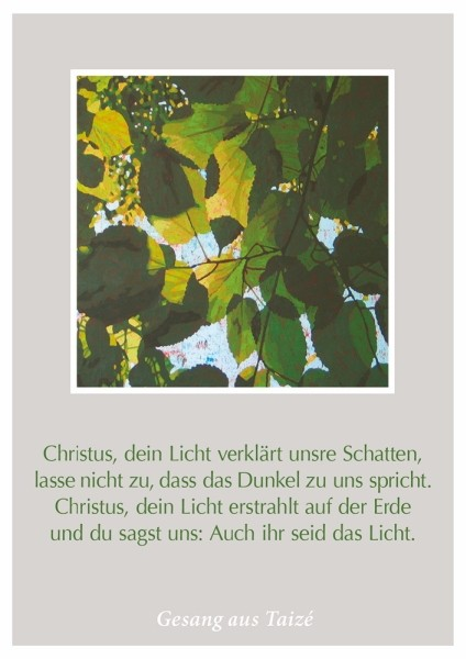 """Postkarte """"Christus, dein Licht"""""""