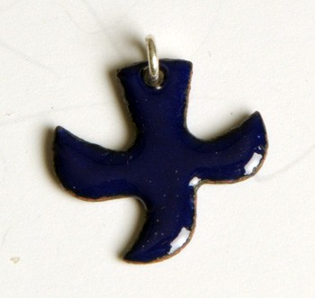 Kreuz/Taube dunkelblau (klein)