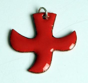 Kreuz/Taube rot (groß)