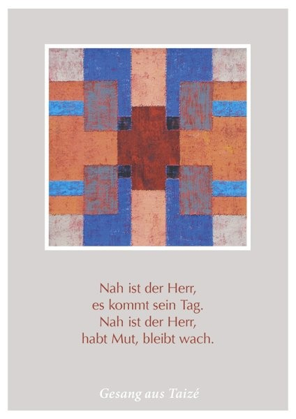 "Postkarte ""Nah ist der Herr"" (Wait for the Lord)"
