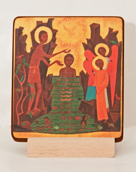 Ikone Taufe Christi (klein)