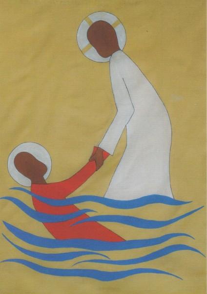 Jesus rettet Petrus