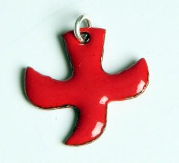 Kreuz/Taube rot (klein)
