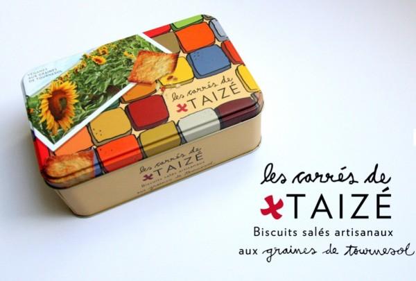 Kekse mit Sonnenblumenkernen - carrés de Taizé