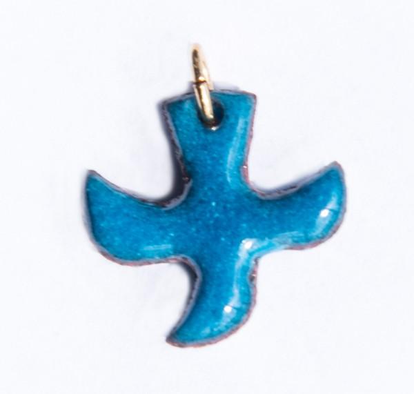 Kreuz-Taube, türkis, klein