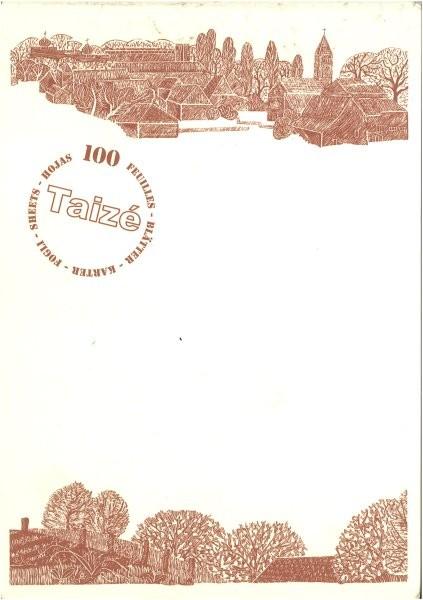 Briefpapier Silhouette Taizé