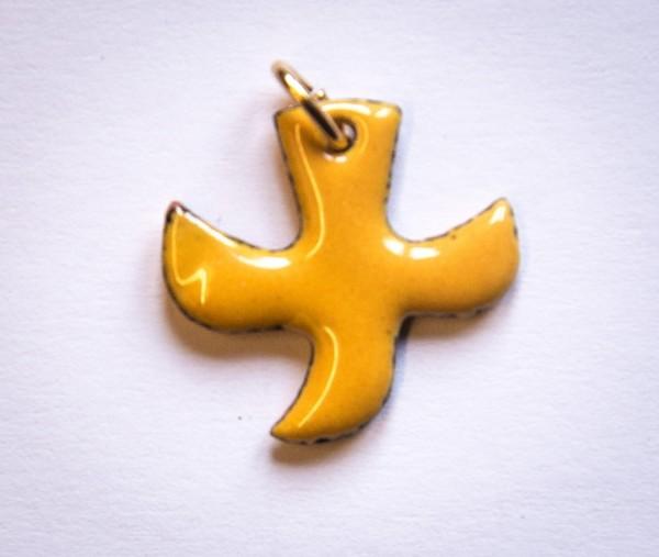 Kreuz-Taube, gelb, klein