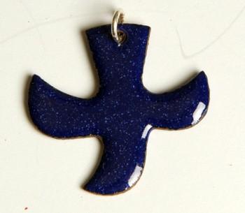 Kreuz/Taube dunkelblau (groß)